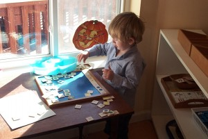 Finn working independently on the 100 board job.